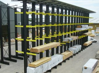 cantilever racking yellow outdoor