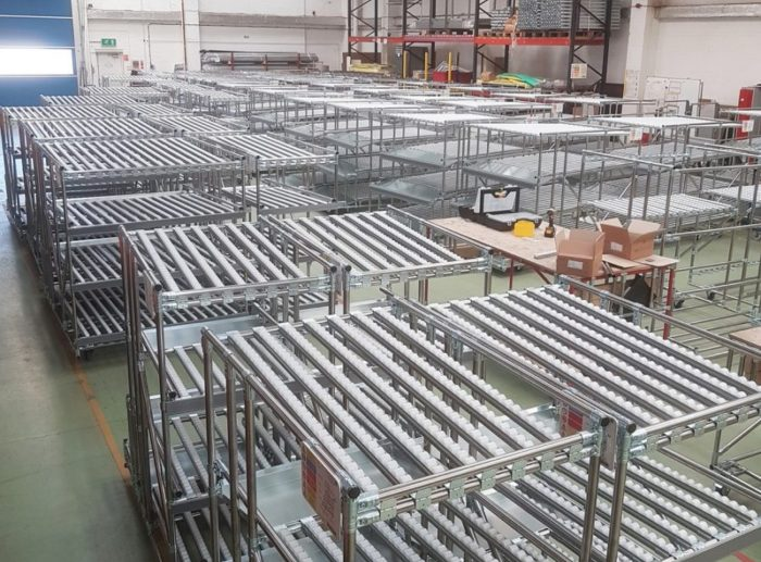 carton live shelving warehouse