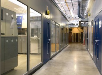 double skin partitioning corridor doors windows