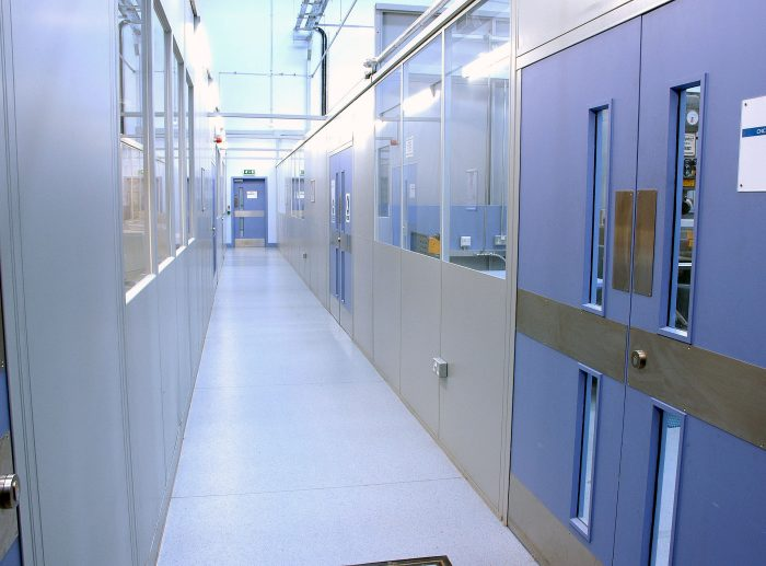 double skin partitioning doors corridor