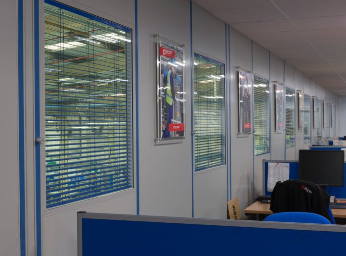 double skin partitioning office windows