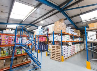 kingdom coffee mezzanine racking ladder