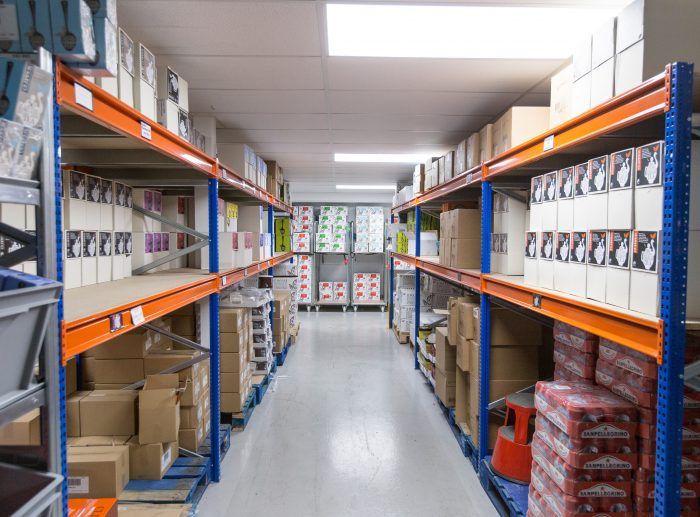 kingdom coffee racking aisle