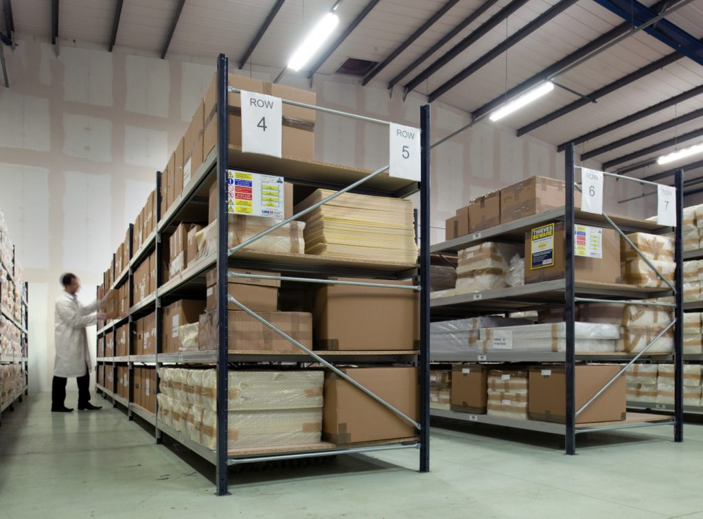 longspan shelving warehouse