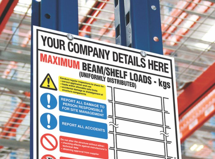pallet racking accessories signage
