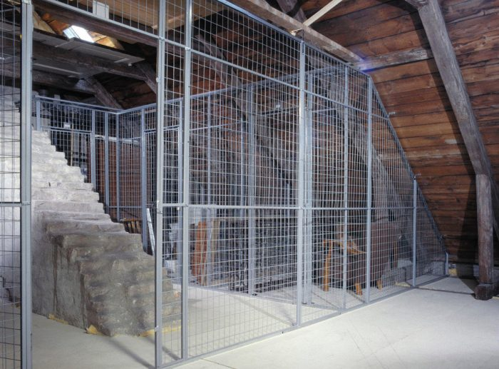 secure cages attic installation