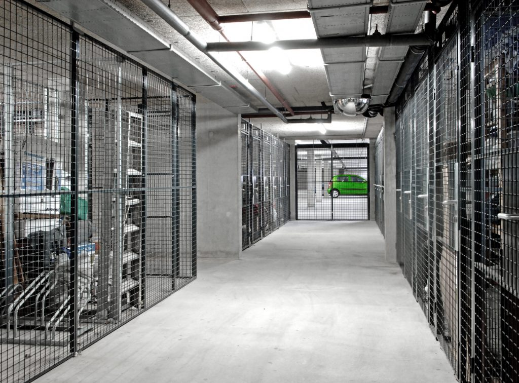 secure cages corridor