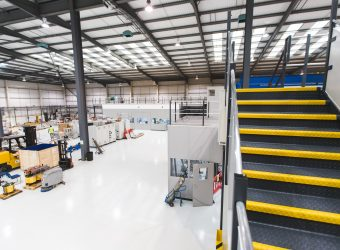 tokamak mezzanine stairs equipment room