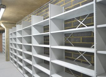 warehouse shelving new installation