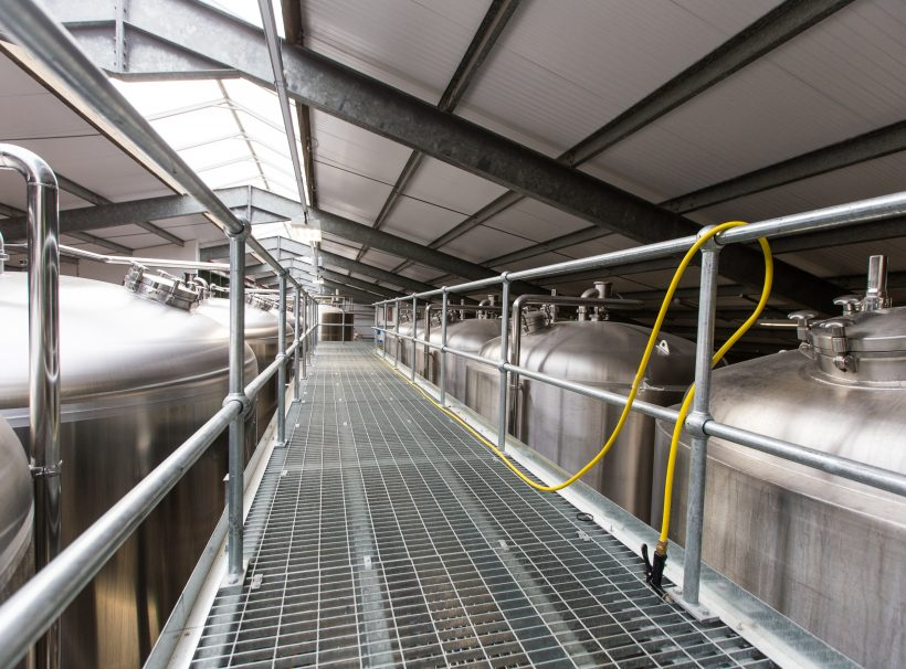 west berkshire brewery mezzanine walkway hose