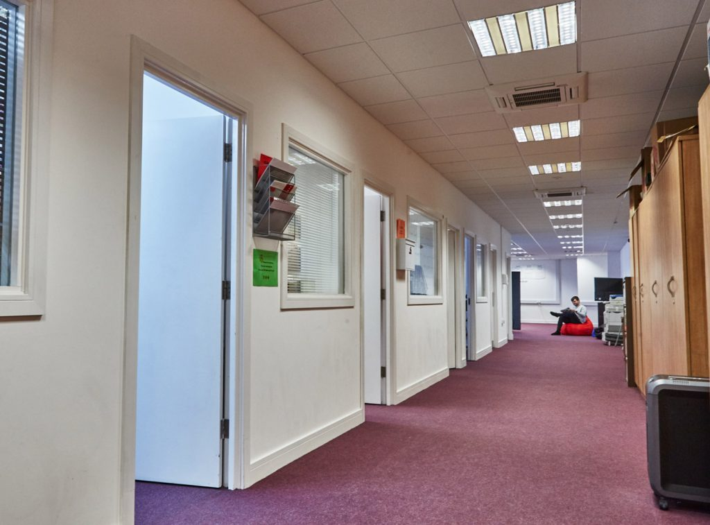 everything 5 office mezzanine corridor