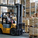 forklift truck warehouse