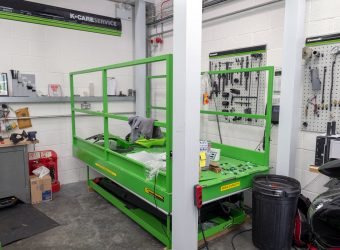 kawasaki mezzanine bike lift