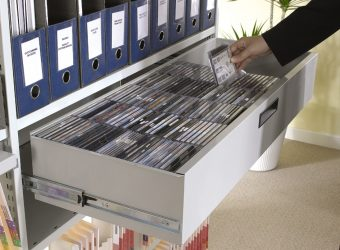 archive shelving cd draw