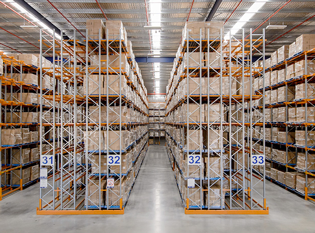 double deep pallet racking warehouse