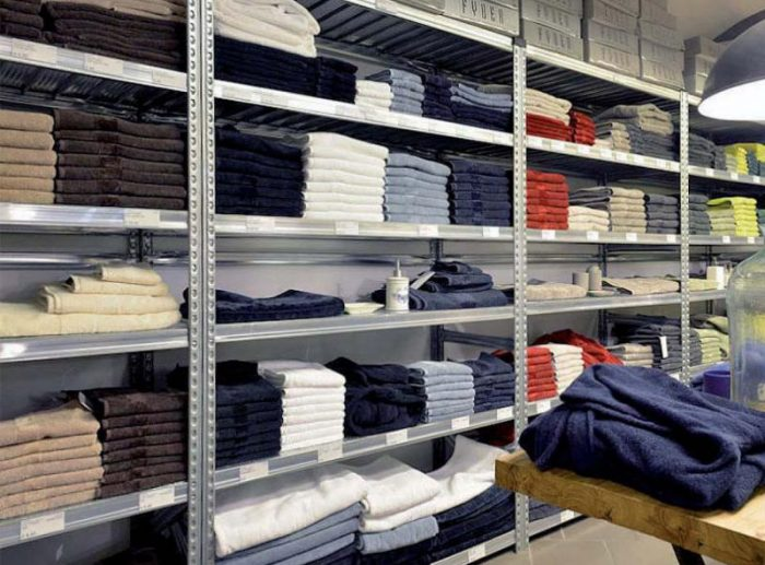galvanised shelving clothing
