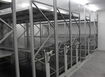 galvanised shelving mobile shelving