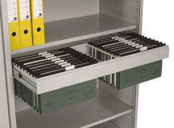 mobile shelving file cradles