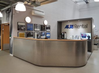 ARRI Rental Bespoke Reception Desk Office Fitout