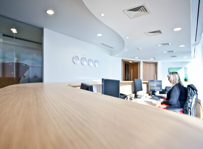 Office Fitout Reception Area