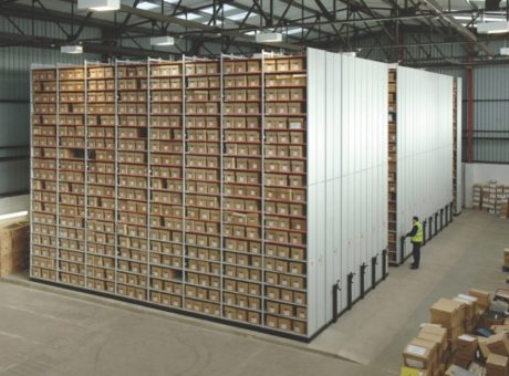 Heavy Duty, Large Scale Mobile Shelving - Warehouse Storage