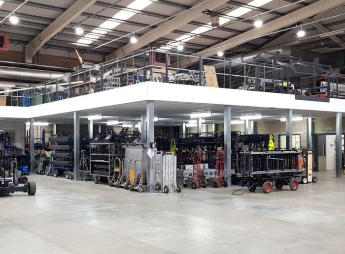 Mezzanine Flooring - Lighting Company Storage